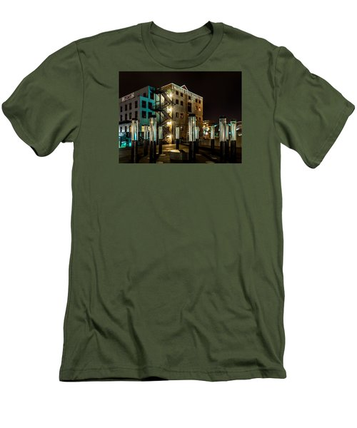 Lofts Overlooking Water Forest Men's T-Shirt (Slim Fit) by Rob Green
