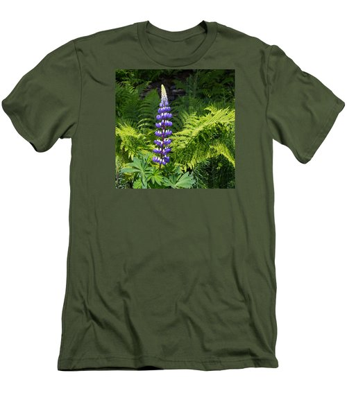 Lone Blue Lupine Men's T-Shirt (Athletic Fit)