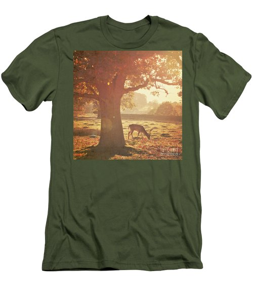 Men's T-Shirt (Slim Fit) featuring the photograph Lone Deer by Lyn Randle