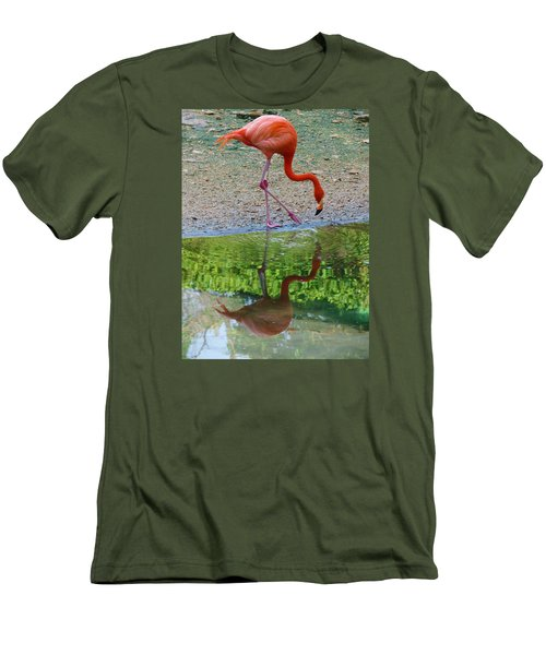 Lone Flamingo Men's T-Shirt (Athletic Fit)