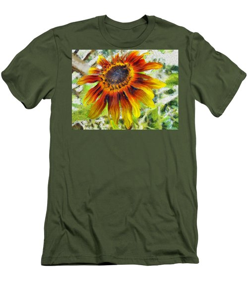 Lonely Sunflower Men's T-Shirt (Athletic Fit)
