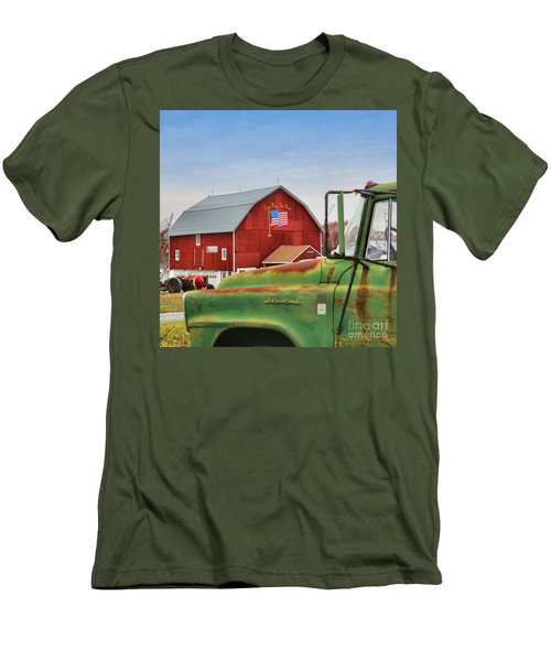 Men's T-Shirt (Slim Fit) featuring the photograph Long May She Wave by DJ Florek
