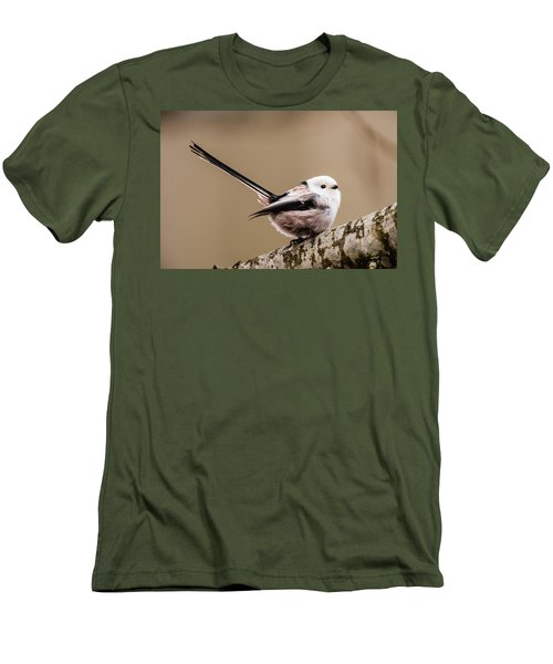 Men's T-Shirt (Slim Fit) featuring the photograph Long-tailed Tit Wag The Tail by Torbjorn Swenelius