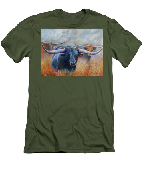 Longhorn Country Men's T-Shirt (Slim Fit) by Karen Kennedy Chatham