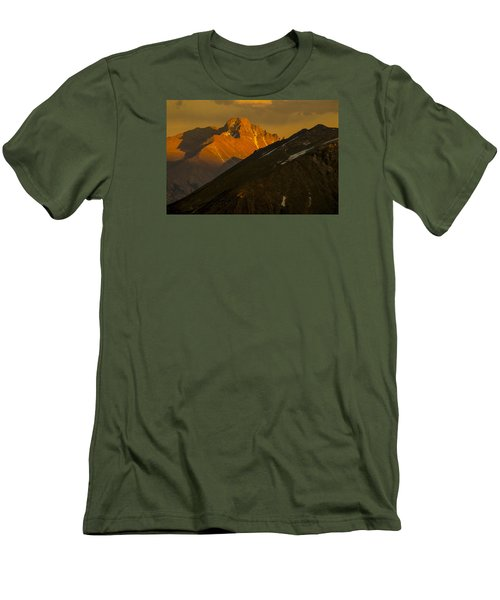 Long's Peak Men's T-Shirt (Slim Fit) by Gary Lengyel