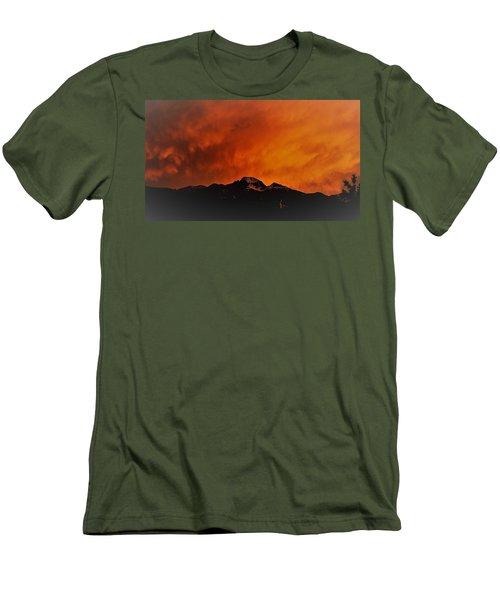 Longs Peak Sunset Men's T-Shirt (Athletic Fit)