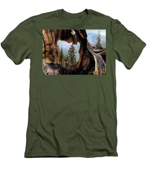 Men's T-Shirt (Slim Fit) featuring the photograph Look Into The Heart by Jim Hill