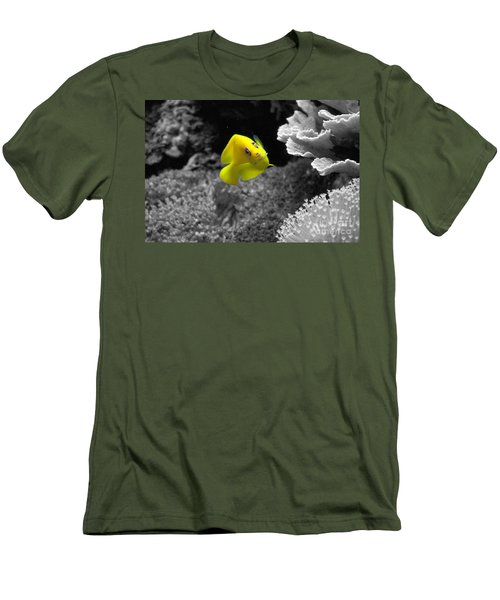 Men's T-Shirt (Slim Fit) featuring the photograph Looking At You by Deniece Platt