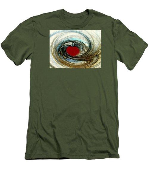 Looking Deep Into Your Heart Men's T-Shirt (Slim Fit) by Merton Allen