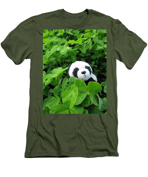 Men's T-Shirt (Slim Fit) featuring the photograph Looking For A Lucky Clover by Ausra Huntington nee Paulauskaite