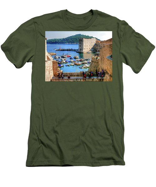 Looking Out Onto Dubrovnik Harbour Men's T-Shirt (Athletic Fit)