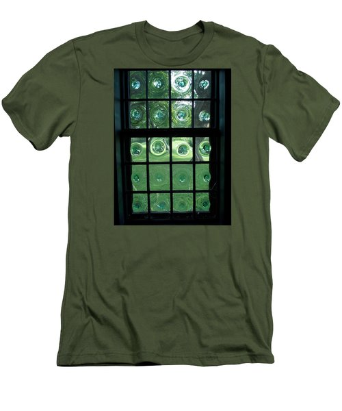 Looking Thru Bubble Glass Window Men's T-Shirt (Slim Fit) by Catherine Gagne