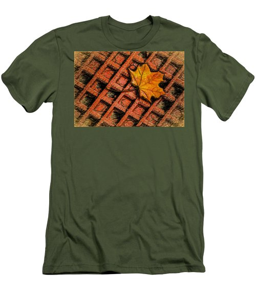 Men's T-Shirt (Athletic Fit) featuring the photograph Looks Like Another Leaf by Paul Wear