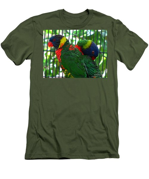 Men's T-Shirt (Slim Fit) featuring the photograph Lory by Greg Patzer
