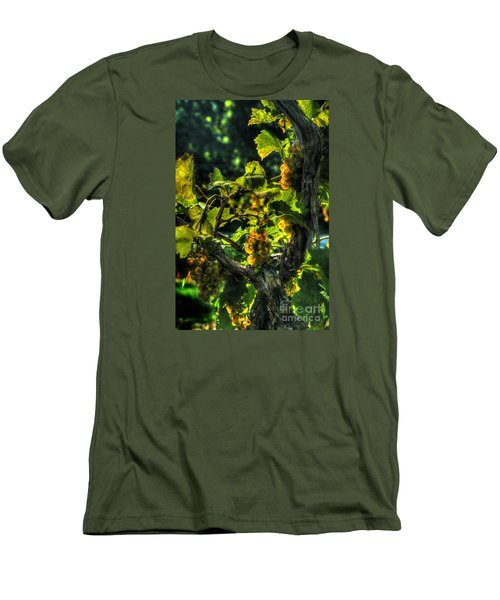 Men's T-Shirt (Slim Fit) featuring the digital art Lost Creek Chardonel by William Fields