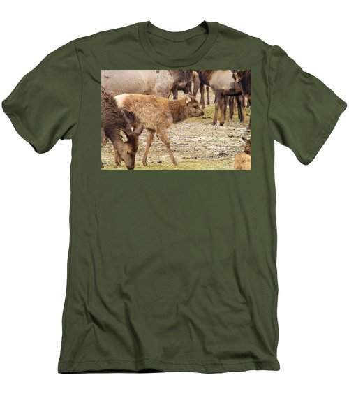 Men's T-Shirt (Slim Fit) featuring the photograph Lost In The Herd by Jeff Swan