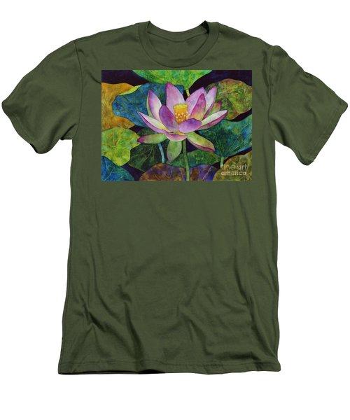 Lotus Bloom Men's T-Shirt (Slim Fit) by Hailey E Herrera
