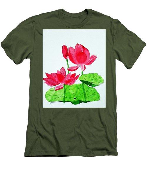 Lotus Flower Men's T-Shirt (Athletic Fit)