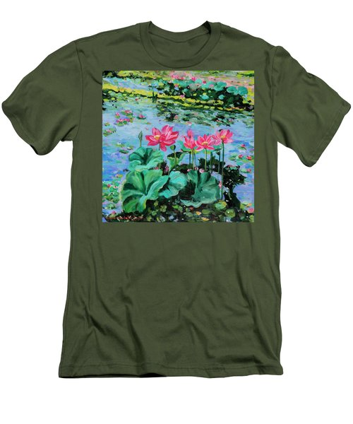 Lotus Men's T-Shirt (Slim Fit) by Alexandra Maria Ethlyn Cheshire