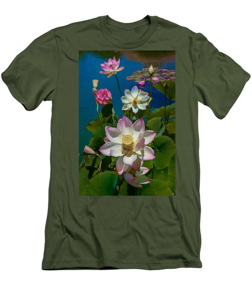 Lotus Pool Men's T-Shirt (Athletic Fit)