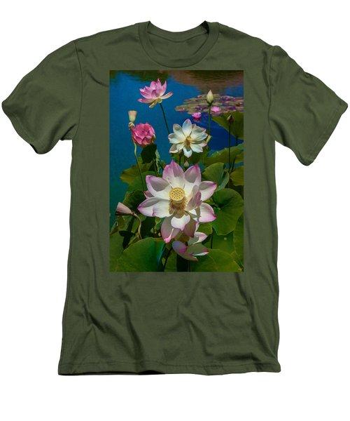 Lotus Pool Men's T-Shirt (Athletic Fit)