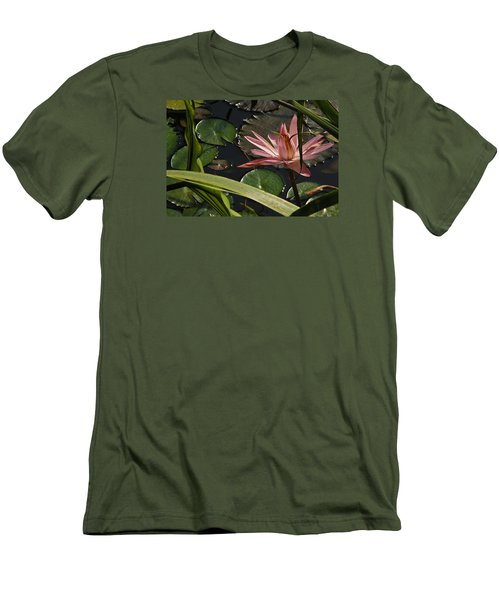 Louisiana Waterlilly Men's T-Shirt (Slim Fit) by Ronald Olivier