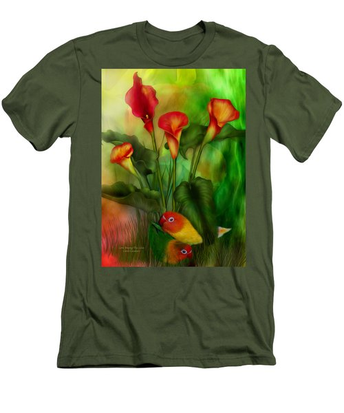 Love Among The Lilies  Men's T-Shirt (Athletic Fit)