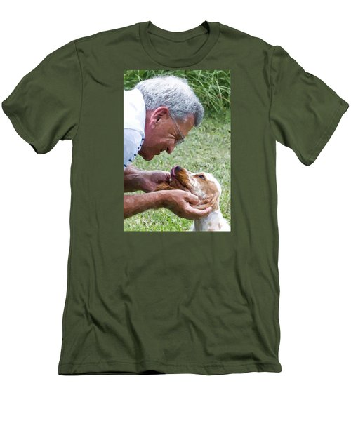 Love At First Sight Men's T-Shirt (Slim Fit) by Susan Molnar