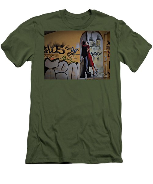 Love Is Everywhere Men's T-Shirt (Slim Fit) by AmaS Art