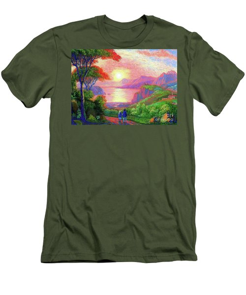 Love Is Sharing The Journey Men's T-Shirt (Athletic Fit)