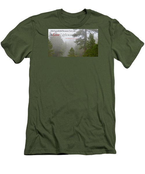 Men's T-Shirt (Slim Fit) featuring the photograph Love Light by David Norman