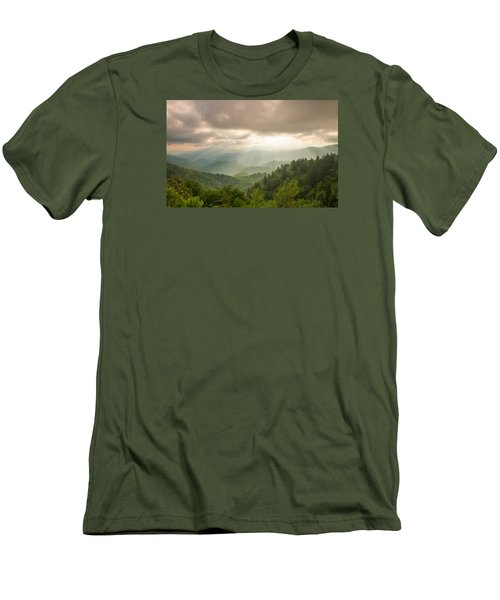 Men's T-Shirt (Slim Fit) featuring the photograph Love Shines Down by Doug McPherson
