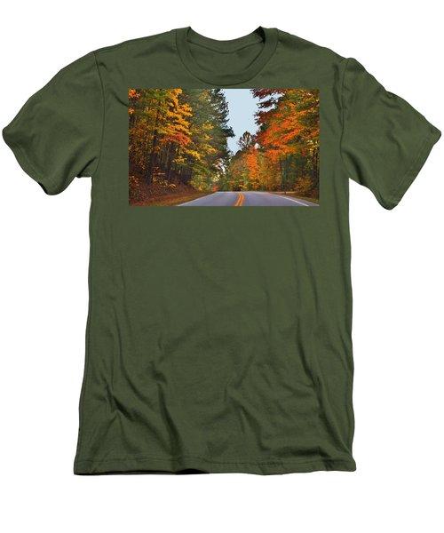 Lovely Autumn Trees Men's T-Shirt (Athletic Fit)