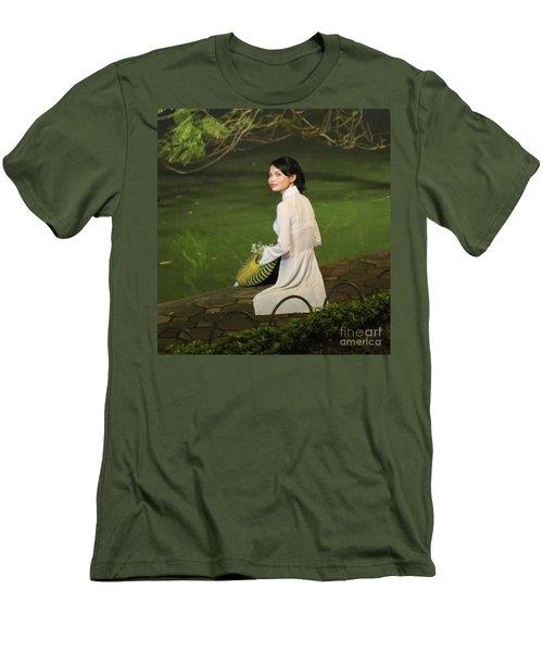 Lovely Vietnamese Woman  Men's T-Shirt (Slim Fit) by Chuck Kuhn