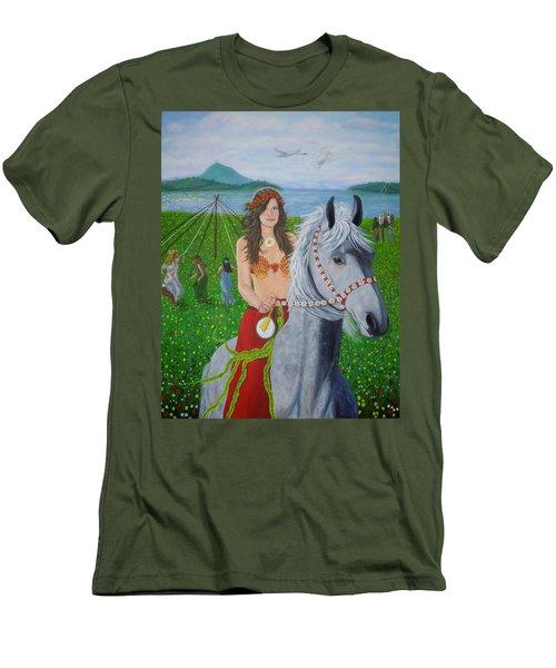Lover / Virgin Goddess Rhiannon - Beltane Men's T-Shirt (Athletic Fit)