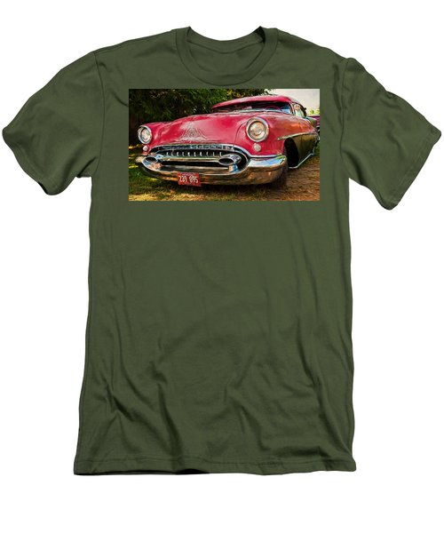 Men's T-Shirt (Slim Fit) featuring the photograph Low Rider Olds by Trey Foerster
