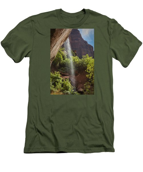 Lower Emerald Pool Falls In Zion Men's T-Shirt (Athletic Fit)