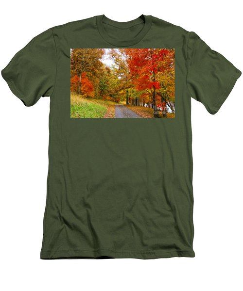 Lower Lake Loop Trail Men's T-Shirt (Slim Fit) by Barbara Bowen