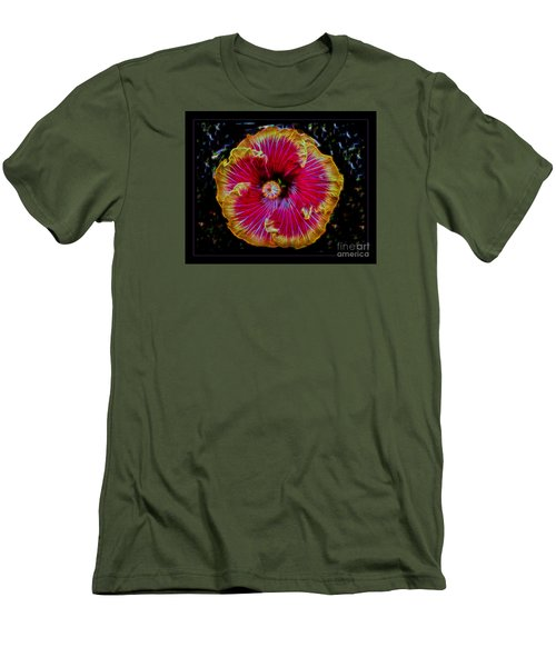 Men's T-Shirt (Slim Fit) featuring the photograph Luminous Bloom by Darleen Stry