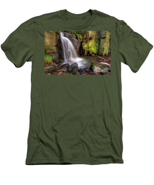 Men's T-Shirt (Slim Fit) featuring the photograph Lumsdale Falls 3.0 by Yhun Suarez