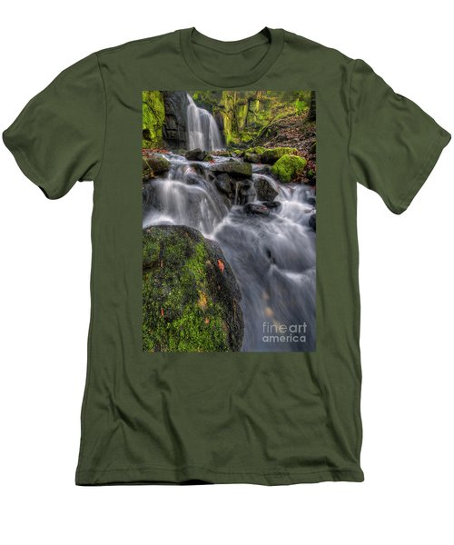 Men's T-Shirt (Slim Fit) featuring the photograph Lumsdale Falls 5.0 by Yhun Suarez
