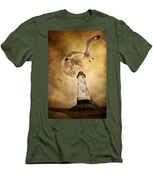 Men's T-Shirt (Slim Fit) featuring the photograph Lunar Flight by Meirion Matthias