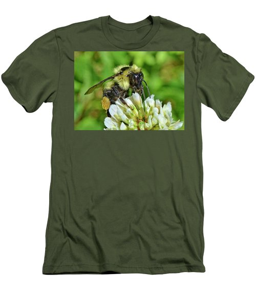 Men's T-Shirt (Slim Fit) featuring the photograph Lunch In The Garden by Ludwig Keck