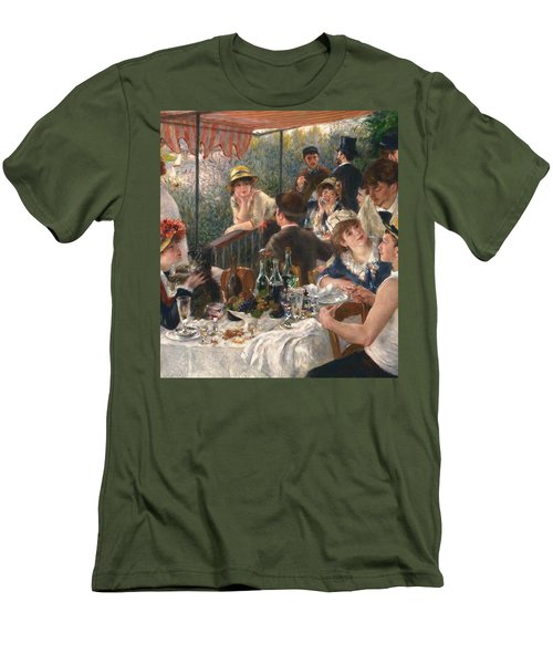 Luncheon Of The Boating Party By Renoir Men's T-Shirt (Athletic Fit)