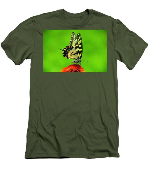 Men's T-Shirt (Slim Fit) featuring the photograph Lunchtime by Byron Varvarigos