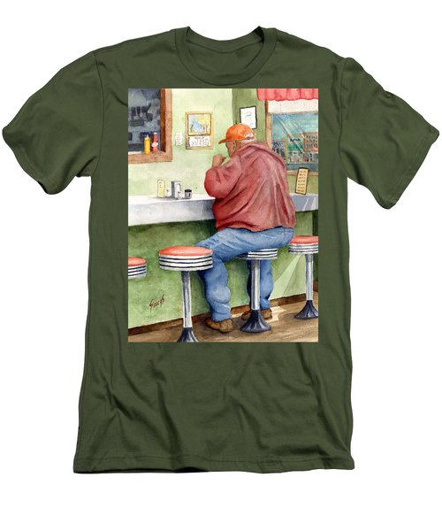 Lunchtime Men's T-Shirt (Slim Fit) by Sam Sidders