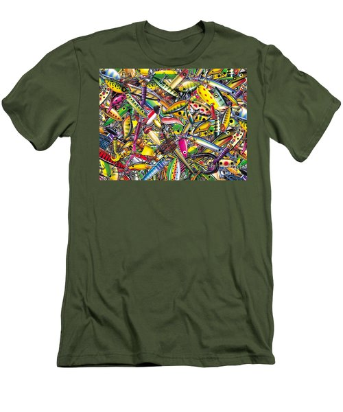 Lure Collage Men's T-Shirt (Slim Fit) by Jon Q Wright