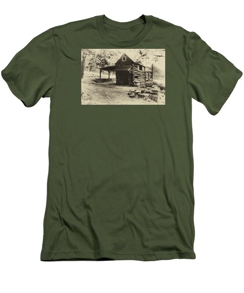 Men's T-Shirt (Slim Fit) featuring the photograph Luxenhaus Cow Barn by William Fields
