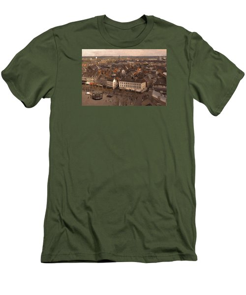 Men's T-Shirt (Slim Fit) featuring the painting Maastricht Direction East by Nop Briex