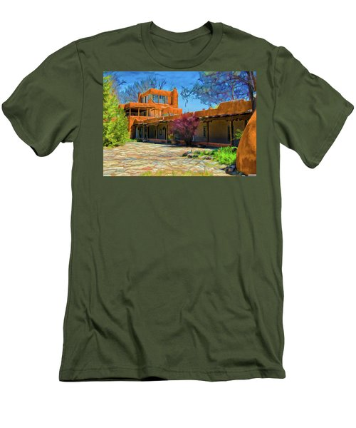 Mabel's Courtyard As Oil Men's T-Shirt (Athletic Fit)